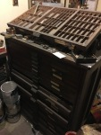 Hamilton cabinet full of metal and wood type...plus some fun vintage cuts